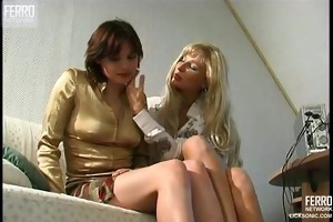 steamy lesbo sex in the office