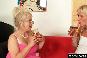 well-endowed grandma permeates a milf