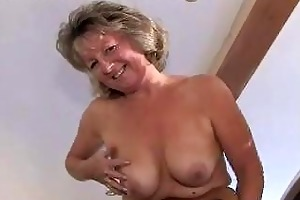 captivating granny in girdle and se...