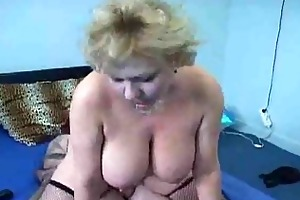 older fat honey rides a hard sausage