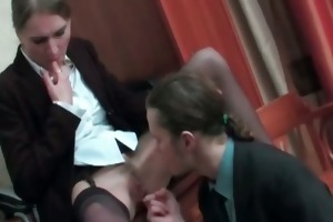 slutty older secretary acquires sexy cookie part1