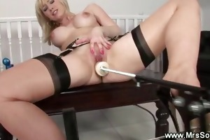milf acquires love tunnel pumped by a machine