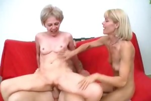 lustful grannies share a dong