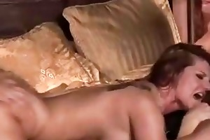 dude acquires golden-haired and redhead momma for