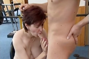 ribald older woman acquires her lascivious moist
