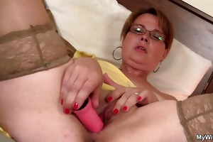 he finds her masturbating and offers his penis