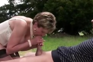 mature doxy sucks copulates and leaves