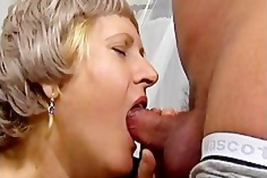 grandma acquires her soaked vagina screwed