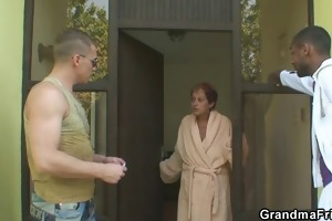 golden-haired granny acquires slammed by ramrods