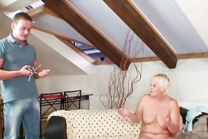 excited granny seduces her son in law