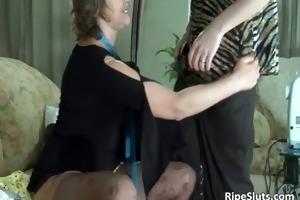horny mature dark brown sucks on unyielding part2
