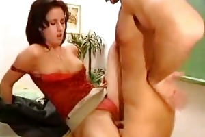 sexy teacher receive screwed hard in classroom