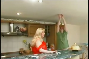 mature russian abode wife receive concupiscent