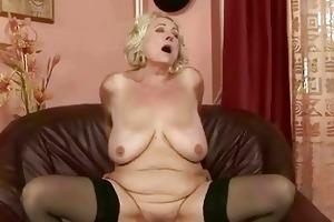 breasty overweight grandma fucking youthful penis