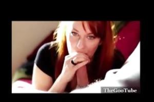 redhead intense blowjob