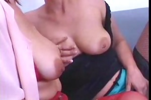 two older lesbos drilled youthful chaps