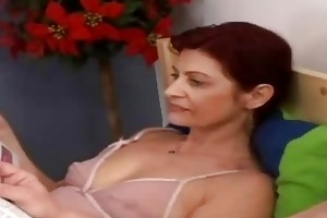 slutty granny engulfing old dick in the ottoman