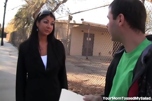 sexy teacher gives rimjob