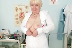 large marangos old lady in uniform fingers curly
