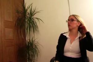 posh office mistress has sex with her villein