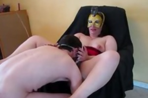 masked wife receives her snatch and ass fucked