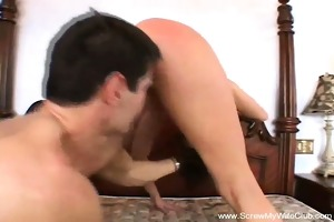 redhead gives a decision to try swinging for hubby
