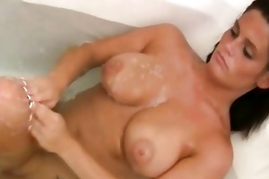 breasty exposed wife filmed in baths