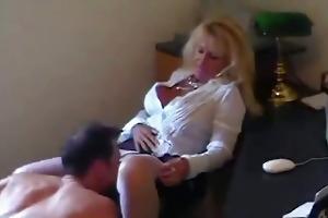 aged sexy secretary gulp cum