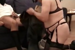 amateur - female three-some - dark wife cuckolds