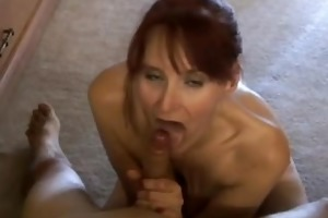 slim older amateur sucks dick like a pro