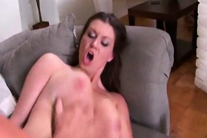 sara stone widens her lengthy legs and receives