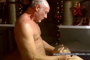 old man ben copulates a cute cuffed legal age
