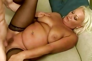 breasty obese grandma gets anal screwed