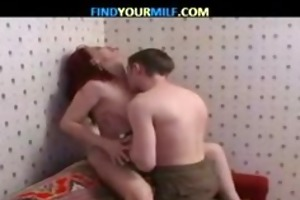 redhead sexually excited mamma