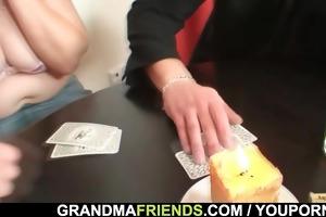 granny loses in disrobe poker