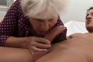 grandma gets unfathomable fucked by a young jock
