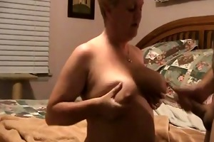wanking-off on her #12 (granny gilf cumshot on