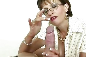 british aged female-dominant is fond of gags