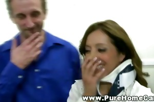 francesca le receives a physical exam
