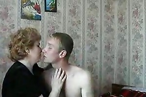 sexy golden-haired aged lady shags with excited