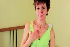 unsightly mature hoe is so thin and she is loves