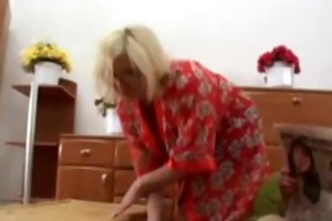 blond granny likes it is coarse