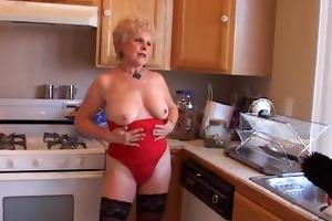 very hot grandma has a soaking juicy snatch