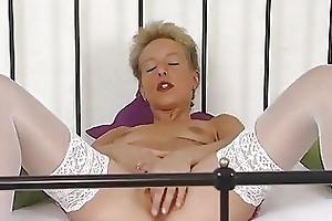 aged german blond masturbating