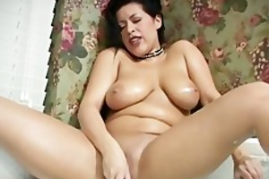 large breasted latin mama gives cook jerking