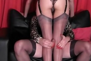 sissy has large knob rubbed by sexy couple of