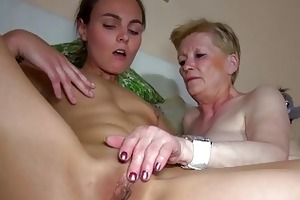 priceless juvenile woman and old granny