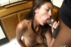 wife cheater getting drilled hard by dark monster