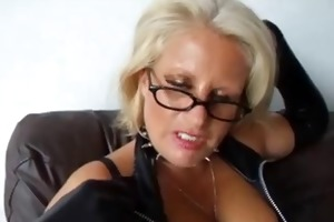 golden-haired older copulates her husband