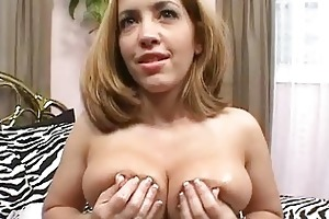 large breasted blond mother i chick slurps on big